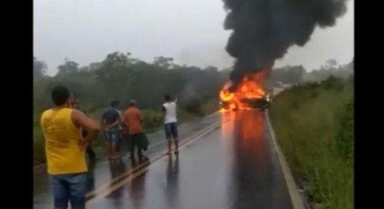 Sobrevivente de colisão na PE-95 diz que fogo se alastrou muito rápido