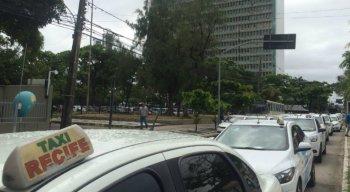 Taxistas afirmam que o protesto é pacífico