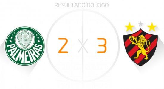 Ouça os gols da vitória do Sport por 3 x 2 sobre o Palmeiras