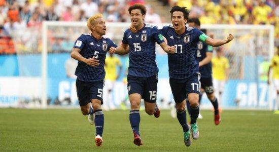 Ouça os gols da vitória por 2 a 1 do Japão sobre a Colômbia