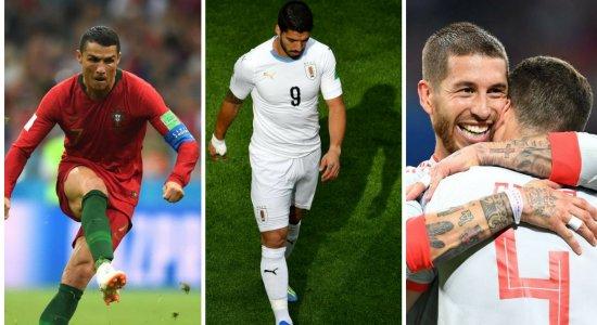 A quarta-feira da Copa tem Portugal, Uruguai e Espanha em campo