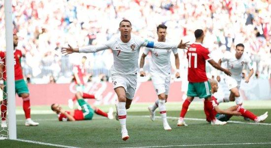 Com gol de Cristiano Ronaldo, Seleção de Portugal vence Marrocos