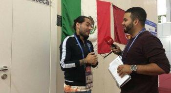 João Victor Amorim entrevistou o repórter Rafael Guillen da Tv Azteca