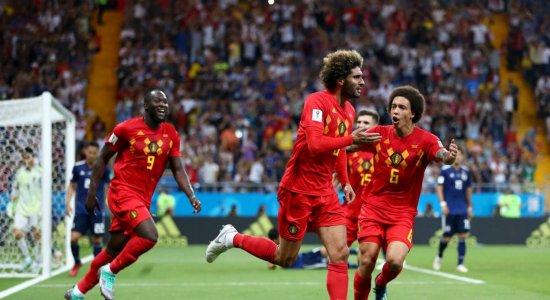 Bélgica vence o Japão de virada e é o adversário do Brasil nas quartas