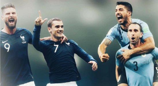 França e Uruguai abrem as quartas de final da Copa do Mundo