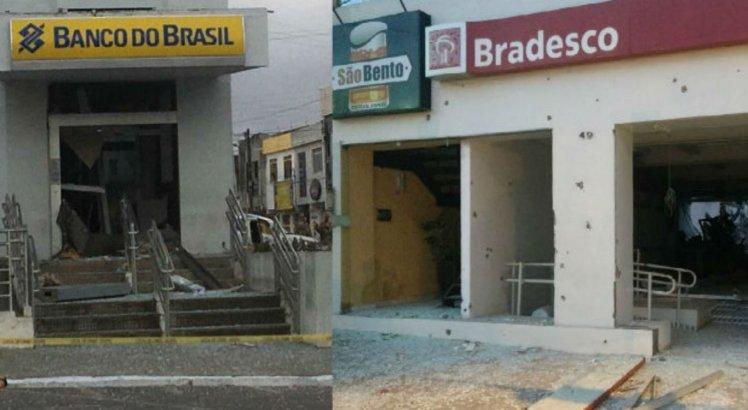 Os dois bancos ficam localizados no Centro de São Bento do Una