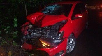 O condutor do carro não se feriu