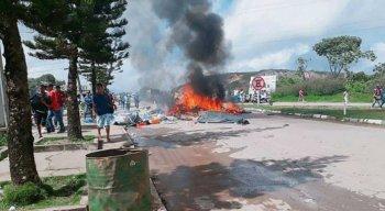 No sábado, moradores de Pacaraima, em Roraima, protestaram contra a presença de venezuelanos
