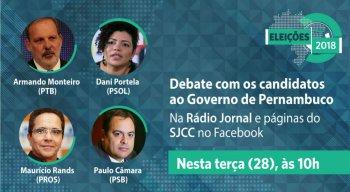 Candidatos se encontram em debate na Rádio Jornal