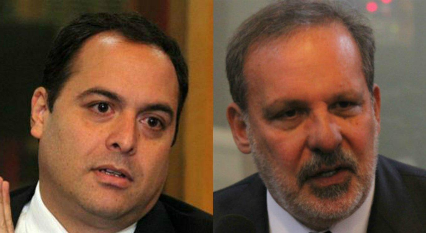 Paulo Câmara (PSB) e Armando Monteiro (PTB)