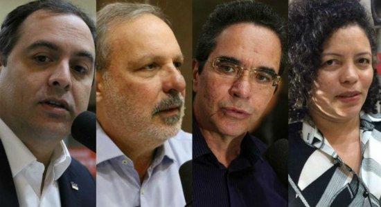 Candidatos ao Governo de Pernambuco participam de debate na TV Jornal