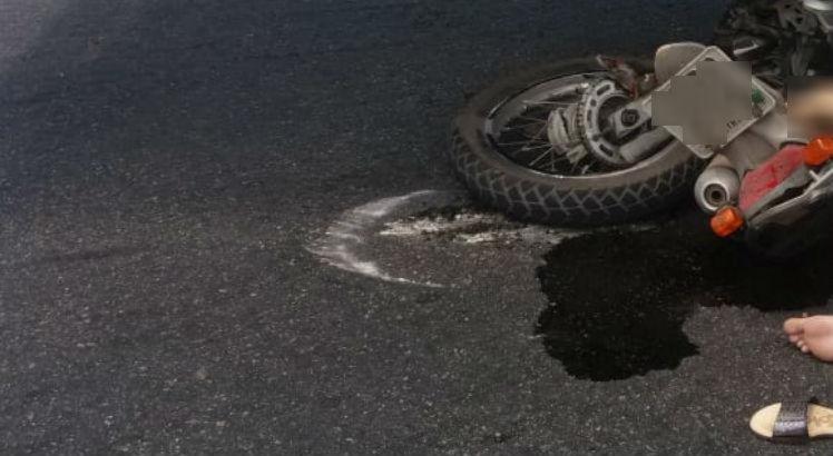 O acidente aconteceu na Avenida Norte, no cruzamento com a Rua Guimarães Peixoto