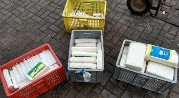 Os queijos foram encontrados sem as condições necessárias para a segurança do consumidor