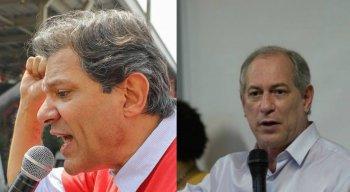 Ciro Gomes (PDT) e Fernando Haddad (PT)