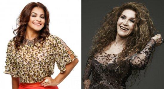 As cantoras Kátia Cilene e Wanderléa