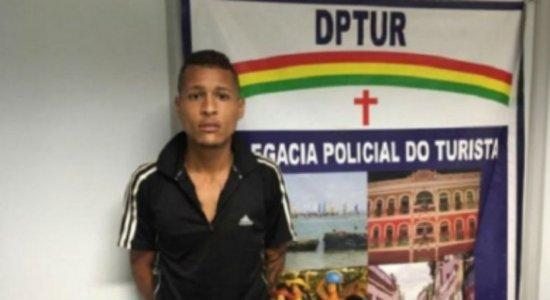 Suspeito de assaltar turistas em Boa Viagem é encaminhado ao Cotel
