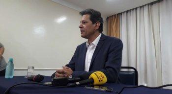 Fernando Haddad conversou com a imprensa sobre apoio de Ciro Gomes (PDT)