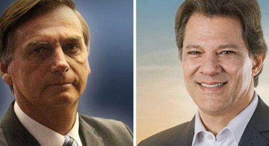 Datafolha: Bolsonaro tem 56% e Fernando Haddad vai a 44%
