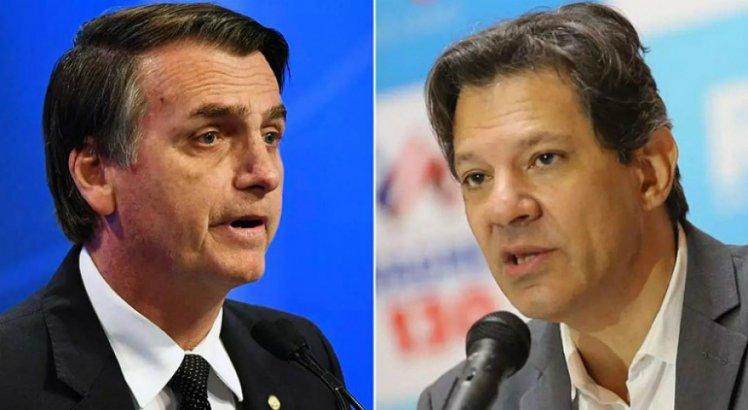 Bolsonaro e Haddad concorrem a Presidência da República no 2º Turno
