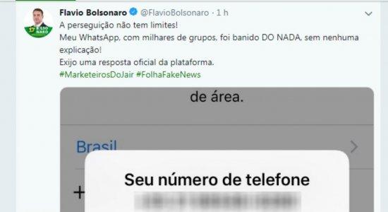 WhatsApp bloqueia contas de agências de mensagens e de Flávio Bolsonaro