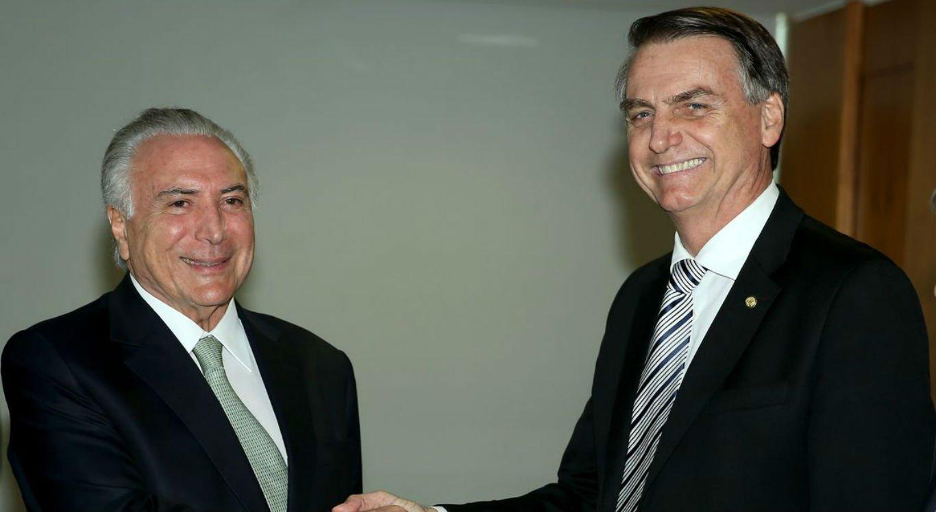 Bolsonaro diz que conta com a experiência de Temer para ajudá-lo