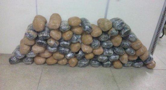 Polícia apreende cerca de 65 quilos de maconha na BR-232, em Jaboatão