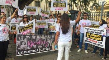 Protesto pede celeridade nas investigações da morte da menina Beatriz