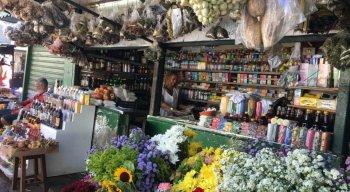 Estabelecimento vende produtos naturais no entorno do Mercado de São José.