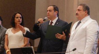 Governador Paulo Câmara durante posse do segundo mandato em Pernambuco.