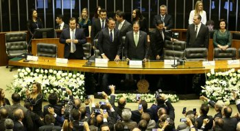 Presidente Jair Bolsonaro na cerimônia de posse.