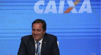 O novo presidente da Caixa Econômica Federal, Pedro Guimarães, durante a cerimônia de transmissão do cargo