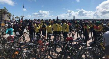 Ciclistas se reuniram no Marco Zero