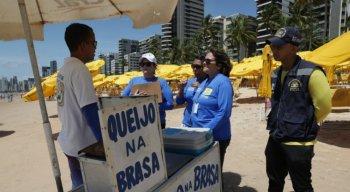 Vigilância Sanitária realizou inspeções nas praias da Zona Sul do Recife