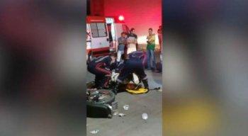 Mulher foi socorrida e o parto realizado no local do acidente, em Caruaru