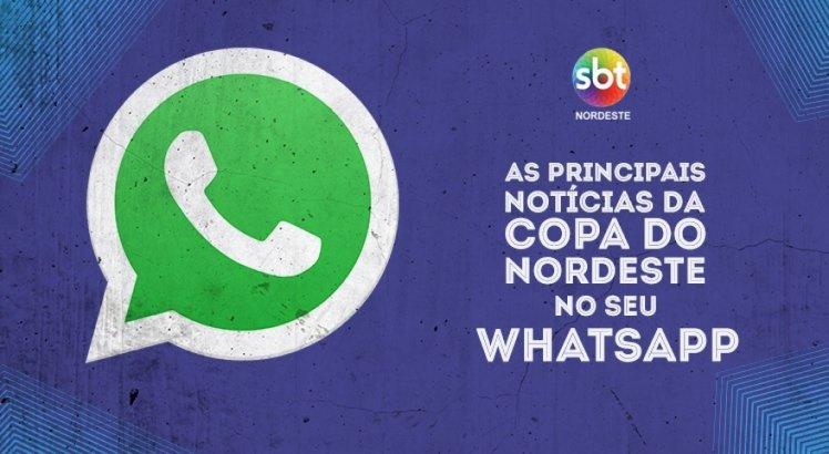 Receba as notícias da Copa do Nordeste no seu WhatsApp