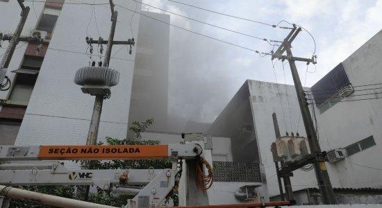 Incêndio atinge prédio da oncologia pediátrica do Hospital Oswaldo Cruz
