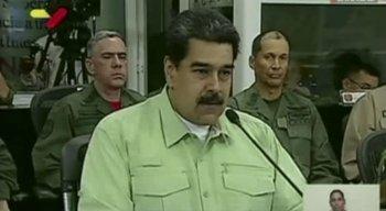Sem mencionar o opositor, Maduro sinalizou resistência às pressões
