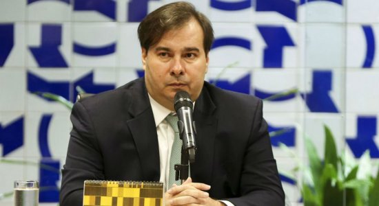 Rodrigo Maia e Jair Bolsonaro se reuniram neste sábado, em Brasília