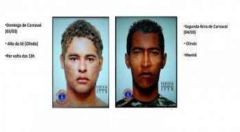 Até agora, a polícia divulgou os retratos falados de dois suspeitos