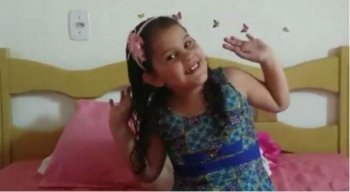 Brunna, 7 anos, passou por transplante nesta quinta-feira (4)