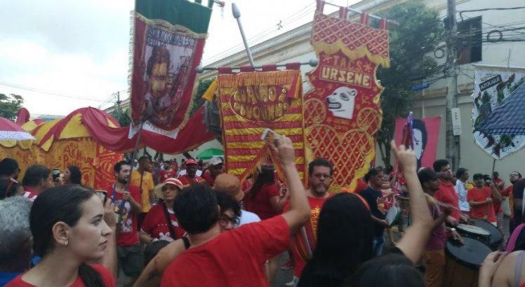 Além dos petistas, organizaram o ato políticos do PSOL e do PCdoB - e de movimentos sociais.