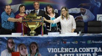 Federação lança campanha de combate a violência contra a mulher em estádios e atividades voltadas ao esporte