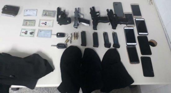 Policiais militares são presos suspeitos de integrarem quadrilha