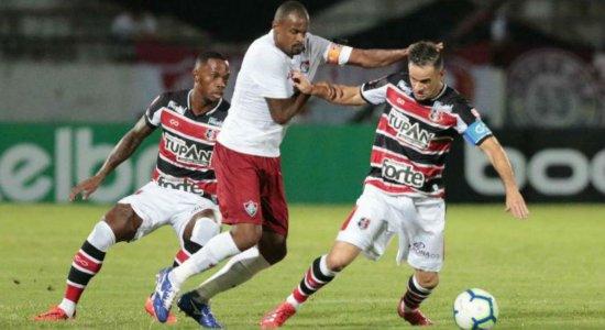 Santa Cruz vence o Fluminense por 2 a 0 mas é eliminado nos pênaltis