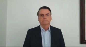 Bolsonaro postou um vídeo em sua conta do Twitter desmentindo a informação