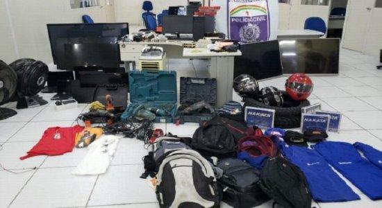 Quadrilha responsável por roubos a empresas na RMR é desarticulada