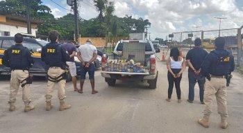 Quatro pessoas foram presas na ação da PRF