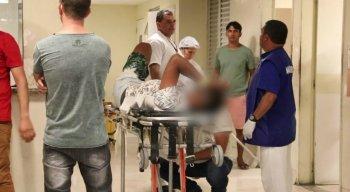 A vítima foi socorrida para o Hospital da Retauração