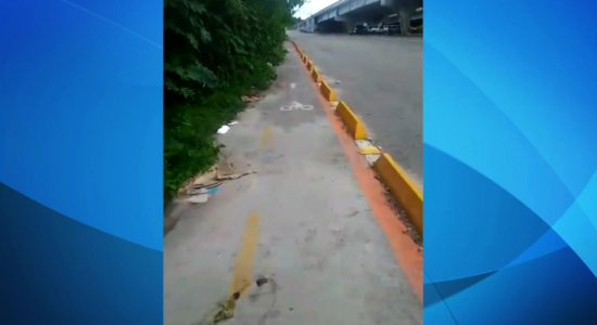 Vídeo: ciclista denuncia descaso em ciclovia de Olinda