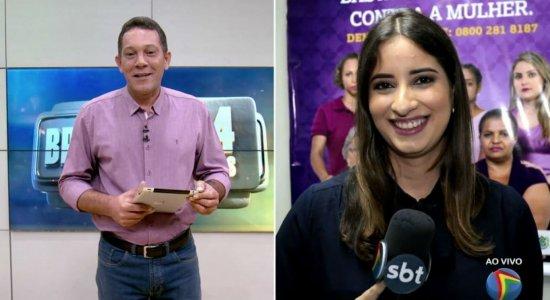 Vídeo: Apresentador da TV Jornal revelagravidez de repórter ao vivo